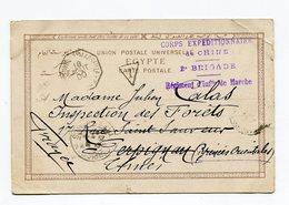 !!! PRIX FIXE : CACHET LINEAIRE 4 LIGNES CORPS EXPEDITIONNAIRE DE CHINE 2E BRIGADE SUR CPA DU CAIRE DE 1900 - China (1894-1922)