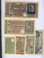Ostland Germany SET 1/2, 1, 2, 5, 20, 50 Reichsmark Ca 1942 Latvia Estonia Lithuania Russia Russland 7887 - [ 4] 1933-1945 : Third Reich