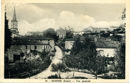 Ecoche Loire 42 Vue Généale 10 - Carte De L'entre 2 Guerres Peu Courante - Autres Communes