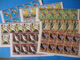 République De Guinée Equatoriale Oiseaux  Lot De 7 Feuille De 10 Timbre Différents Neuf** - Guinée Equatoriale