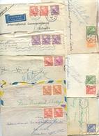 Sweden 1947-48 8 Covers Mix Of Postmarks & King Gustaf V Coil Stamps - Suède