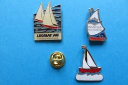 Lot De 3 Pin's, Sailing,Voile,Segelschiff - Sailing, Yachting