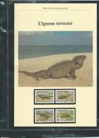 Dossier Wwf Complet - L'IGUANE Terrestre  ( Turks & Caicos )  ( Voir Les Scans ) -(  20/011/1986 ) - Fab 67 - Turks & Caicos