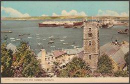 Parish Church And Harbour, Falmouth, Cornwall, C.1960s - Harvey Barton Postcard - Falmouth