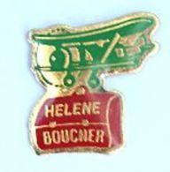Pin's Ecole HELENE BOUCHER - Cartable Et Avion Biplan - Cadactuel - H172 - Administrations