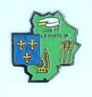 Pin's LA POSTE - COS 77 - Carte De Département - Fromage - Blés - Blason  - H178 - Mail Services