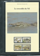 Dossier Wwf Complet - Le Crocodile Du Nil  ( Gambie  )  ( Voir Les Scans ) -(  1984 ) - Fab 74 - Gambie (1965-...)