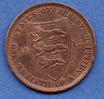 Jersey  - 1/12 Shilling 1913 --   état  TB+ - Jersey