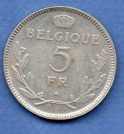 Belgique  - 5 Francs 1936 - Km # 108.1   état  TB+ - 1934-1945: Leopold III