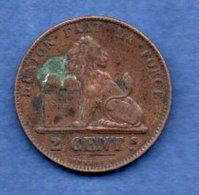 Belgique  - 2 Centimes 1863  - Km # 4.2   état  TB+ - 1831-1865: Leopold I