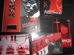 Festival International De Films Résistances, Foix : Plaquette 24 Pages, 2001 & 4 Cartes (2011/2014 & 2016) - Merchandising