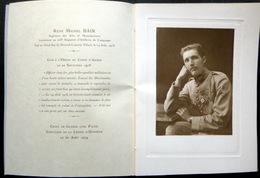 MEMORANDUM SOUVENIR DU LIEUTENANT RENE BAIR 208° RA DE CAMPAGNE TUE LE 14 AOUT 1918 - Documents