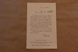 Invitation Maire De Corbère (Pyrénées-Orientales) : Inauguration école Et Remise Palmes Instruction Publique, 1901 - Collezioni