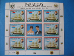 Paraguay  Feuillet Carlos Con Julio 1981  Lady Diana Spencer Neuf** - Paraguay