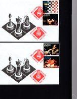 606041278 MOLDOVA 1997 FDC SCHAAK ECHEC CHESS - Schaken