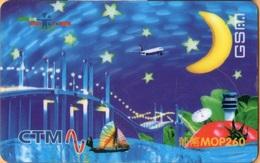 Macau - CTM Mobile Services, GSM Refill, Ready To Go Card, Macao Bridge, Exp.1/9/2001, Heavily Used - Macau