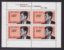 MALI BLOC N°    3 ** MNH Neuf Sans Charnière, TB (CLR368) J.F.Kennedy 1964 - Mali (1959-...)