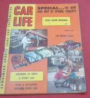 Rare Revue Vintage Automobile Américaine Car Life Avril 1955 Essai Dodge,Mercury,Pontiac, Nash,Hudson Studebaker - Books, Magazines, Comics