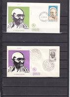 GANDHI LOT 2 FDC MALI ET MAROC - Mahatma Gandhi