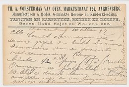 Firma Briefkaart Aardenburg 1897 - Manufacturen - Kleding - Wol - Periode 1891-1948 (Wilhelmina)
