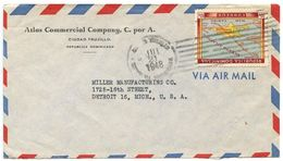 Dominican Republic 1948 Airmail Cover Ciudad Trujillo To U.S. W/ Scott 421 Hispaniola - Dominicaanse Republiek