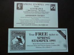 CARDS 2 STAMPEX 1995 CARDS - Correos & Carteros
