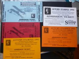 CARDS 5 STAMPEX CARDS 1893/1994 - Post & Briefboten