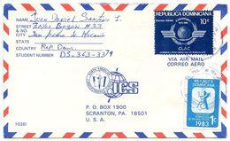 Dominican Republic 1984 Airmail Cover San Pedro De Macorís To U.S. W/ Scott C392 & RA95 - Dominicaine (République)