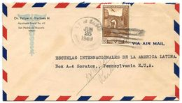 Dominican Republic 1949 Airmail Cover San Pedro De Macorís To U.S. W/ Scott C71 Ruins - Dominicaanse Republiek