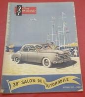 Action Automobile Spécial 38ème Salon Automobile Octobre 1951 Aronde,203,Hotchkiss Grégoire,135 M Delahaye,Dyna Junior - Auto/Moto