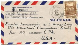 Dominican Republic 1949 Airmail Cover La Romana To Scranton, Pennsylvania - Dominicaanse Republiek