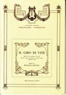 PALERMO,TEATRO MASSIMO,POLITEAMA GARIBALDI:IL GIRO DI VITE 1978-1979 - Altri Oggetti