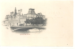 PARIS . HOTEL DE VILLE . DOS NON DIV NON ECRITE - Frankreich