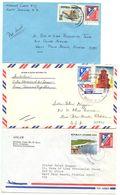 Dominican Republic 1973-74 3 Airmail Covers Santo Domingo & Bonao To U.S. - Dominican Republic
