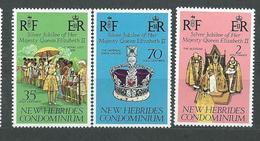 NOUVELLES-HEBRIDES  N°  447/49  **  TB  3 - English Legend
