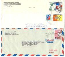 Dominican Republic 1970's-80's 3 Airmail Covers Santo Domingo & San José De Ocoa - Dominican Republic