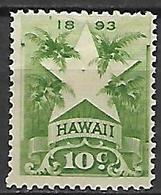 HAWAI   -   1894 .  Y&T N° 66 (*).  Surchargé.  Etoile - Hawaii