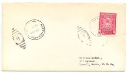 Haiti 1953 Cover Port-au-Prince To Lowell, Massachusetts W/ Scott 381 - Haiti