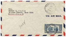 Haiti 1939 Airmail Cover Port-au-Prince To U.S. W/ Scott C11 US Constitution - Haiti