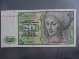 Allemagne/Germany : 20 Deutsche Mark 1977 - [ 6] 1949-1990 : GDR - German Dem. Rep.