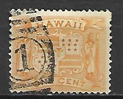 HAWAI   -   1894 .  Y&T N° 63 Oblitéré.   Armoiries - Hawaii