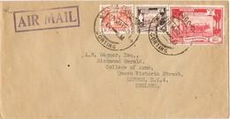 29243. Carta Aerea RANGOON (Birmania) Corting 1950 - Myanmar (Burma 1948-...)