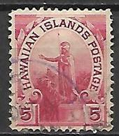 HAWAI   -   1894 .  Y&T N° 65 Oblitéré. - Hawaii