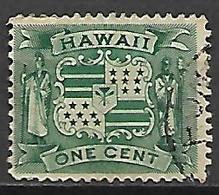 HAWAI   -   1899 .  Y&T N° 69 Oblitéré.    Armoiries - Hawaii