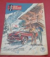 Action Automobile Janvier 1952 Expedition Panhard Capricorne Lausanne Singapour,Panaméricaine,Essai Aronde - Auto/Moto