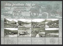 Faroe Islands  2003 Centenary Of Faroese Post Offices,  Mi  462-469 In Minisheet, MNH(**) - Faeroër