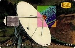TARJETA TELEFONICA DE COSTA RICA. (CHIP). 12.95, ESTACIÓN TERRENA TARBACA, 1ª EMISIÓN. 065 - Costa Rica