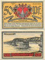 Wittenberge, 1 Schein Notgeld 1921, Elbe Elbbrücke, 50 Pfennig - [11] Local Banknote Issues