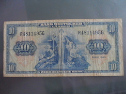 Allemagne/Germany : 10 Deutsche Mark 1949 - [ 6] 1949-1990 : GDR - German Dem. Rep.