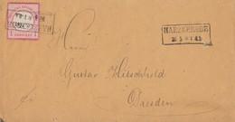 DR Brief EF Minr.4 R2 Harzgerode 20.5. Gel. Nach Dresden - Briefe U. Dokumente